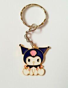 Cute KUROMi Sitting My Melody Sanrio Cartoon Cat Girls Keyring Keychain Gift UK