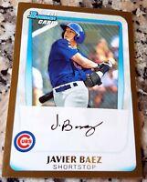 JAVIER BAEZ 2011 Bowman GOLD #1 Draft Picks SP Rookie Card RC Chicago Cubs HOT