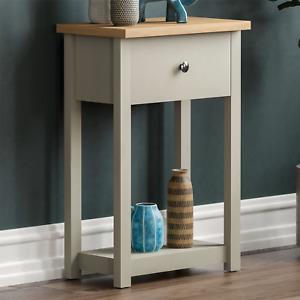 Arlington 1 Drawer Console Table Shelf Hallway MDF Dressing End Side Table Grey