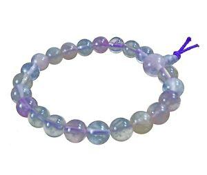 Fluorit mehrfarbig Powerarmband Kugel-Armband Edelstein Beads Perlen Buddah 8 mm