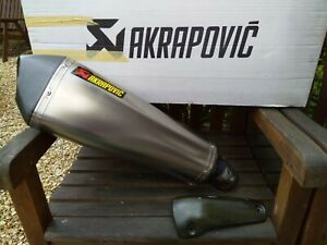 GENUINE AKROPOVIC SLIP ON EXHAUST FOR BMW K1300R/S - REMOVABLE BAFFLE FITTED