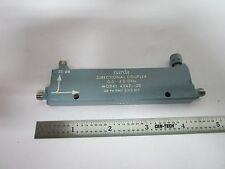 Narda Direccional Acoplador RF Microondas Frecuencia 2Ghz 4242-20 Papelera #