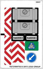 LEGO 60083 - Town / City: Traffic - Snowplow Truck - STICKER SHEET