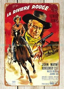 Red River movie poster 1948 John Wayne, Montgomery Clift metal tin sign