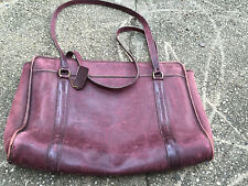 Vintage Coach brown leather laptop bag briefcase
