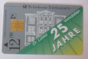 Phone Cards Advertisement 25 Years Dr. Lübke Real (3760)