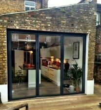 TOP SWISS Aluminium Bifold Door 3 Panel  Glazed Glass 2400mm X 21000mm