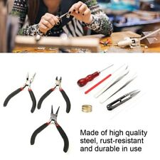 Jewelry Making Tools Repair Kit Jewelry Pliers Tweezers Crochet Beading Wire Set