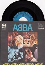 "ABBA MONEY MONEY MONEY UNIQUE LABEL 1977 RECORD YUGOSLAVIA 7"" PS SINGLE"