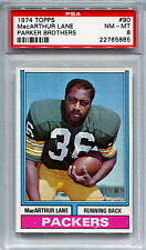 1974 Topps Parker Brothers Draft Game MACARTHUR LANE Rare Packers PSA 8 Low Pop