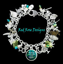~ FAIRY, FOREST, WOODLAND, WHIMSICAL, QUOTE, INSPIRE, CHARM BRACELET~