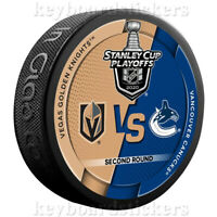 2020 Stanley Cup Playoffs Hockey Puck Vegas Golden Knights vs Vancouver Canucks