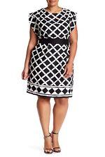 Eliza J Obi Belt Solid Dress (Plus Size)  (size 18W)