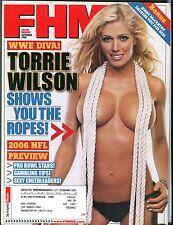 FHM Magazine September 2006 Torrie Wilson EX w/ML 101116jhe