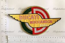 Ducati Meccanica Motorcycle Badge Embroidered Cloth Back Patch