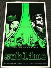 Vintage NOS Blacklight Poster 1812 Sublime Long Beach Neon Bright Rock and Roll