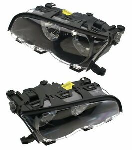 For BMW E46 M3 Set Of Left & Right Halogen Headlight Assembly OEM Marelli