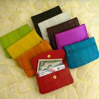 Genuine Eel Skin Leather Coin Purse Wallet