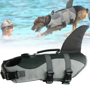 Hunde Schwimmweste Rettungsweste Schwimmhilfe Haifischen Form mit Griff S/ M/ L