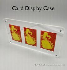 Card Display Case- 3 Card Capacity- Laser Cut Acrylic- New