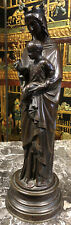 Vierge A L Enfant En Bronze Old