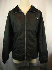 Mens MAXX Sportswear Black Nylon Hooded RainJacket Parka Tommy Sports Logo sz L