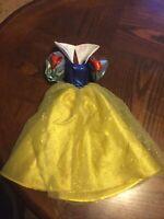 Disney Princess Barbie Doll Dress Gown Snow White Yellow Blue Dress