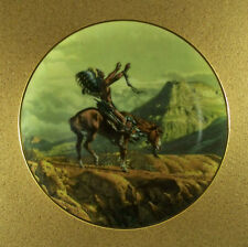 The West Of Frank McCarthy The Prayer Plate Hamilton Collection Warrior Rare