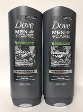 (2) Dove Men + Care Micro Moisture Body & Face Scrub-CHARCOAL & CLAY-18oz. Each
