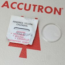 Bulova Accutron Watch Crystal Part #R309AYD New Old Stock Armored Yellow