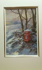David Dipnall, Winter Greeting (Post Box) Signed Limited Edition Landscape Print
