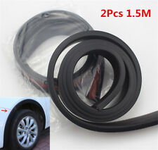 2x 50mm Car Fender Flares Guard Wheel Eyebrow Black Rubber Protector Accessories
