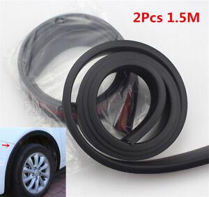 2x 50mm Car Fender Flares Guard Wheel Eyebrow Black Rubber Protector Accessories