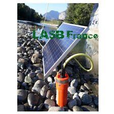 Kit de Pompe Solaire 70m de Profondeur avec Panneau Photovoltaïque de 100W