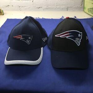 2x New England Patriots New Era 39THIRTY NFL Hat Dad Cap Size M/L