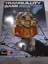 1969 Revell Tranquillity Base Apollo 11 Lunar Module Model Kit open damaged box