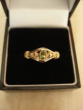 9CT GOLD FINE PERIDOT DRESS RING BNIB MADE IN ENGLAND PURE QUALITY