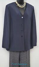 Talbots 2 Pc pant Suit Pants Jacket crinkle Silk Blazer Jacket SZ 10 top 12 pant