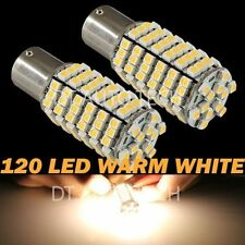 2X 430 Lumens 1156 High Power LED Warm White Reverse Back Up Lights Bulbs