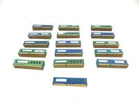Lot of 154 RAM Sticks of 1GB DDR3 PC3 DESKTOP Memory RAM Various Brands & Speeds