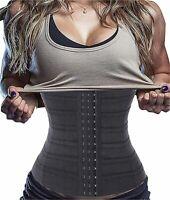 LODAY Compression Short Torso Waist Training Trainer Slimmer, Black, Size Large