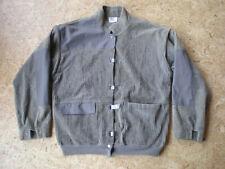 (Large) Vintage Corduroy / Twill Men's Gray/Green Jacket Zip Off Sleeves Vest