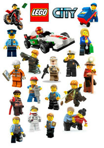 Lego City Wall Stickers - 5 sizes available