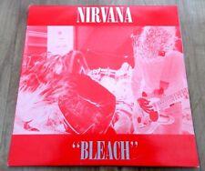 "NIRVANA - BLEACH  AUSTRALIAN RED 12"" VINYL LP ORIGINAL 1989 RELEASE DAMP 114"