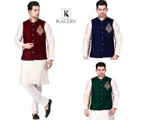 Men's Nehru Indian  Modi Jacket  Pakistani  Asian Waistcoat MJ720