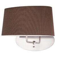 Klassische ovale Stoff Wandleuchte mit Schalter Braun Design Leuchte Wohnzimmer