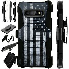 Luxguard For Samsung Galaxy S10/S9/S8/Plus Phone Case Cover US FLAG GRAY