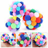 Pet Cat Colorful Toy Handmade Bells Bouncy Ball Built-In Catnip Interactive Toy