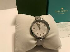 Kate Spade Women's Holland Silver-Tone Leather Strap Watch KSW1475 NEW IN BOX!!