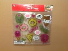 Gel Window Clings - Foodie Sweets Cravings Love - 22 Pieces - Anytime Fun! New